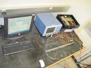 Computer and extremal support hardware: Oscilloscope Optical poer meter and power supply.